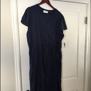 Old Navy Dark Blue Short Sleeved Dress